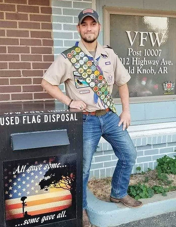 vfw-names-bald-knob-alum-scout-of-the-year-–-arkansas-democrat-gazette